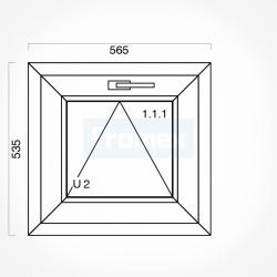 Okno typowe (O1) 565 x 535 mm białe