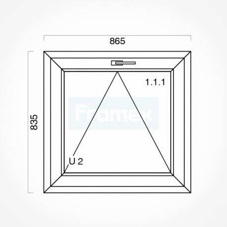 Okno typowe (O5) 865 x 835 mm białe