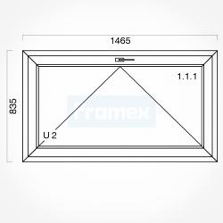 Okno typowe (O7) 1465 x 835 mm białe
