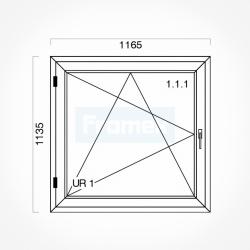 Okno typowe (O17) 1165 x 1135 mm białe
