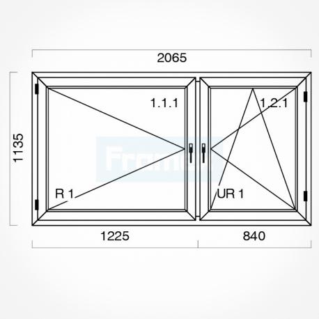Okno typowe (O20) 1765 x 1135 mm białe