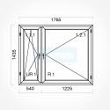 Okno typowe (O37) 1765 x 1435 mm białe