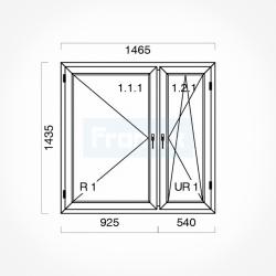Okno typowe (O34) 1465 x 1435 mm białe