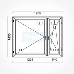 Okno typowe (O36) 1765 x 1435 mm białe