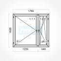 Okno typowe (O52) 1765 x 1635 mm białe