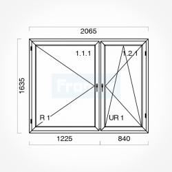 Okno typowe (O54) 2065 x 1635 mm białe