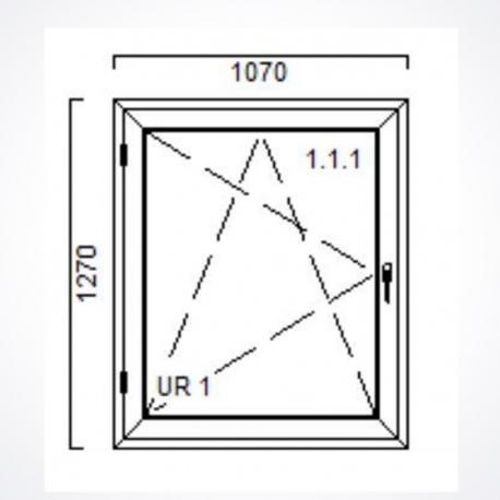 Okno 1070 x Wysokość 1270 mm  Biały